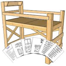 Free Twin Loft Bed Plans by Twin Size Loft Bed Plans Medium Height Op Loftbed