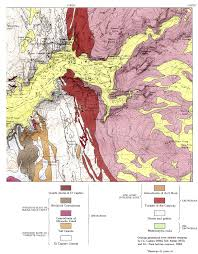 Geological Map The Geologic Story Of Yosemite National Park 1987 U201cgeologic