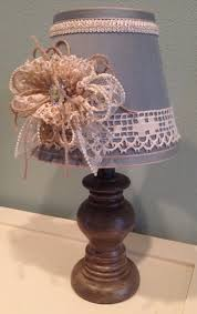 cottage chic shabby chic handmade girls room decorated lamps