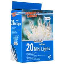 white cord 20 bulb mini indoor clear light set hobby lobby 26242