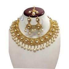 gold sets images fancy antique gold polki necklace sets at rs 1175 set lajpat