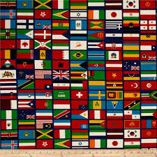 Green Red And White Flag Riley Blake Our World Flag Blue Discount Designer Fabric