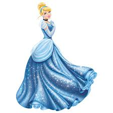 cinderella glamour giant removable wall decal with glitter wall2wall