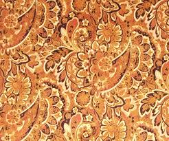 rich earth tone tan brown gold paisley upholstery fabric woven