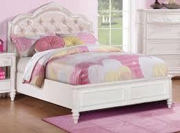 coaster 400720f caroline white full bed with diamond tufted headboard