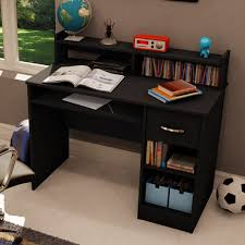 Black Computer Desk With Hutch by Computer Desks