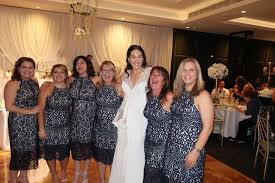 six guests wear the same dress to australian wedding video