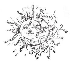 celestial sun and moon moon moon and piercing