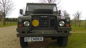 military land rover discovery used land rover defender series 3 109 believed genuine 24000 miles