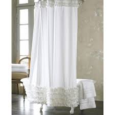 Brown Ruffle Shower Curtain by Fabric Shower Curtain Blue And Brown White Stool Rings Ideas