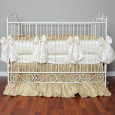 cream silk crib bedding neutral crib bedding ababy com