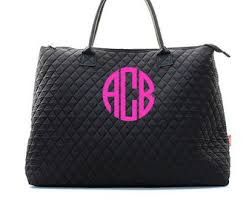 monogram quilted tote bag small personalized quilted tote