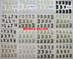 121 style sparkle french nail decal fashion korea design 3d nail