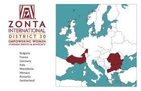 Monaco France Map by District 30 Zonta District 30