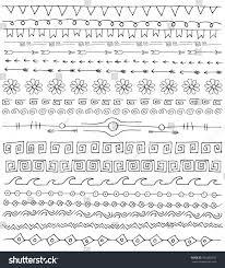 ornaments doodle vector line stock vector 362462390