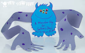 Card Making For Children - father u0027s day card a monster hug