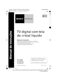 download free pdf for sony bravia kdl 40w5100 tv manual