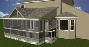are you trying to decide between a screened porch or a deck here
