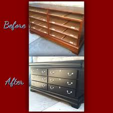 Refinishing Furniture Ideas Dresser Re Done Without Sanding Using Sander Deglosser And