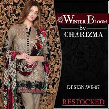 charizma collection 2017 winter bloom by riaz arts with prices