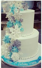 the 25 best snowflake cake ideas on pinterest disney frozen