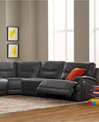 Macys Sectional Sofas by Caruso Leather 6 Piece Power Motion Chaise Sectional Sofa Den