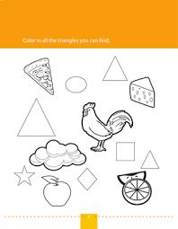 find u0026 color triangles worksheet education com