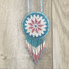 indian beaded necklace images Vintage jewelry native american indian beaded medallion necklace jpg
