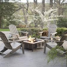 Resin Wood Outdoor Furniture belham living all weather resin wood adirondack chair gray