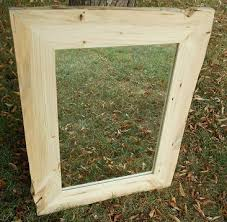 Cabin Bathroom Mirrors by Natural Edge Mirror Frame Rustic Red Pine Natural Edge Mirror