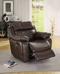 Leather Recliner Chair With Cup Holder Homelegance Marille Reclining Sofa Set Dark Brown Bonded