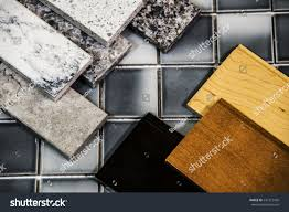 kitchen counters kitchen cabinet colors samples stock photo