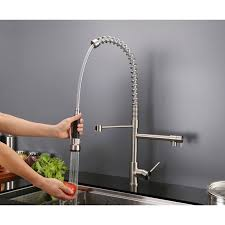kitchen faucet commercial ruvati rvf1290st 28 inch pre rinse spray commercial style kitchen