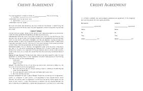 credit agreement template free agreement templates
