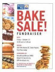 bake sale fundraiser free flyer template piercings pinterest