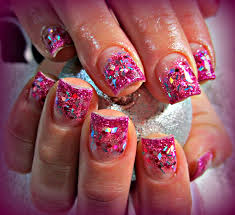 pretty pink acrylic nails how you can do it at home pictures
