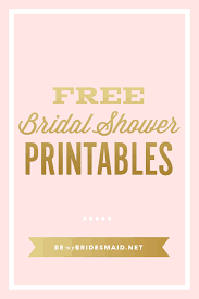 for bridal shower free printables for bridal shower planning
