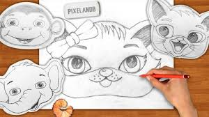 how to draw cute cartoon animal faces udemy