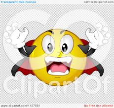halloween clip art transparent background cartoon of a halloween vampire emoticon royalty free vector