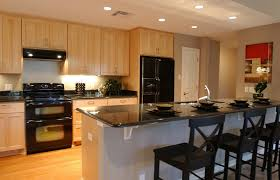 kitchen beautiful maple kitchen cabinets with black appliances