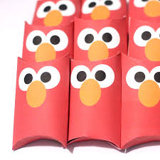 free printable elmo treat boxes moms crafters