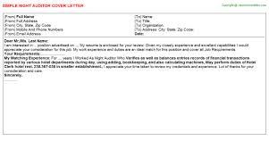 cover letter auditor night auditor cover letter