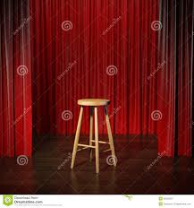 Stage With Curtains Stool On A Stage Stock Photo Image 45620637