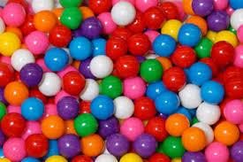 small gum balls gum nuts seeds snacks chocolate