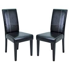 chaises s jour lot de 2 chaises de séjour galpa noires achat vente chaise