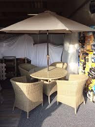 4 Seater Patio Furniture Set - worcester 4 seater rattan effect garden furniture set in norwich