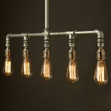 Brass Ceiling Light Fittings by Vintage Galvanised Plumbing Pipe Chandelier Light Pinterest