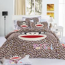 King Size Bed Cover Measurements Fast Shipping 100 Cotton Kids Bape Leopard Bedding Set Cartoon