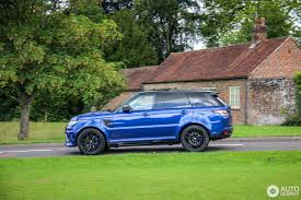 dark green range rover land rover urban range rover sport svr 9 august 2016 autogespot