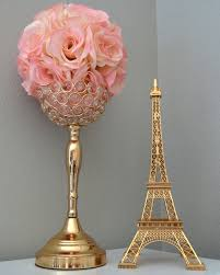 eiffel tower centerpieces gold eiffel tower centerpiece parisians theme decor